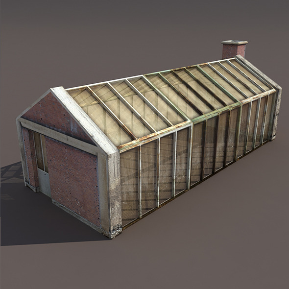 Greenhouse Old Low Poly 3d Model - 3DOcean Item for Sale