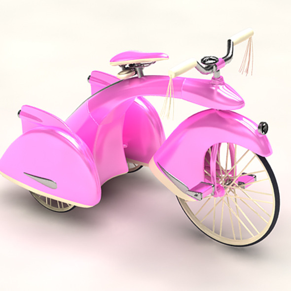 Pink Bicycle - 3DOcean Item for Sale