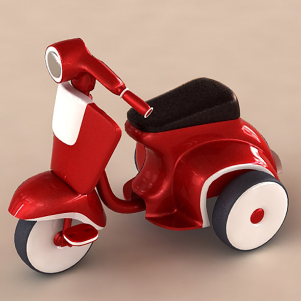 Bicycle Like Vespa - 3DOcean Item for Sale