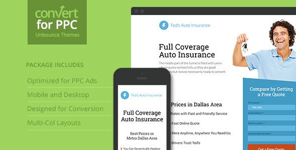 PPC Landing Page Theme for Unbounce