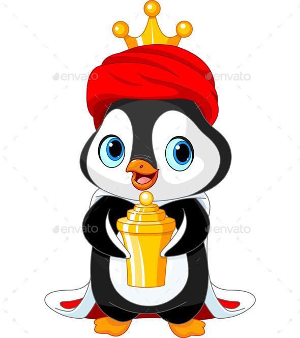 Penguin as a Biblical Magi - Christmas Seasons/Holidays