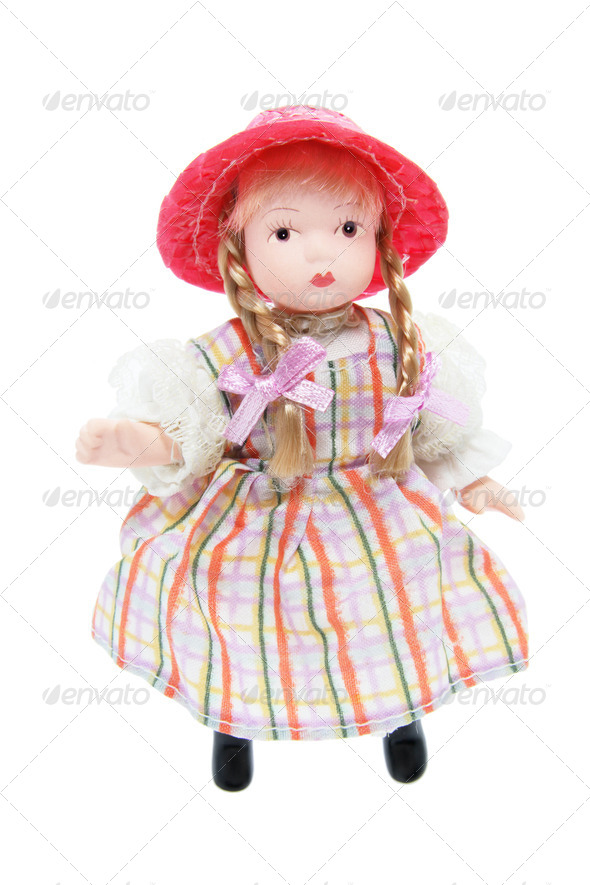 Doll with Red Hat - Stock Photo - Images