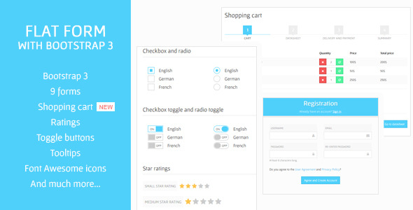 Flat Form with Bootstrap 3