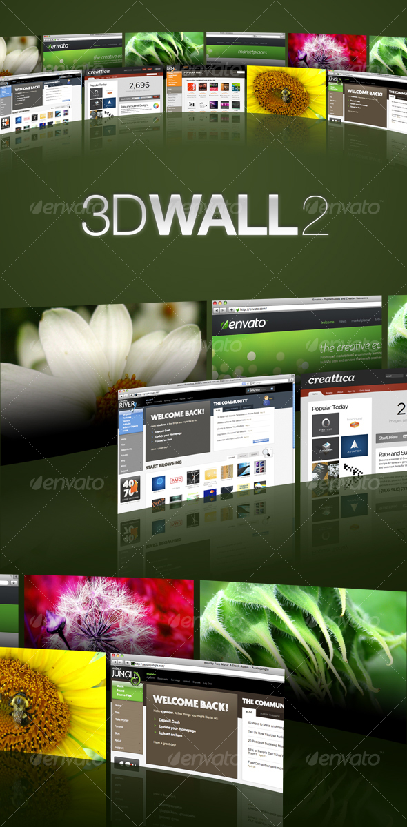 3D Wall 2 - Miscellaneous Web Elements