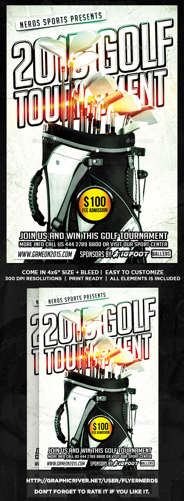 Golf Competition Sports Flyer - Sports Events