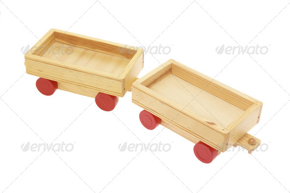 Wooden Toy Carts - Stock Photo - Images