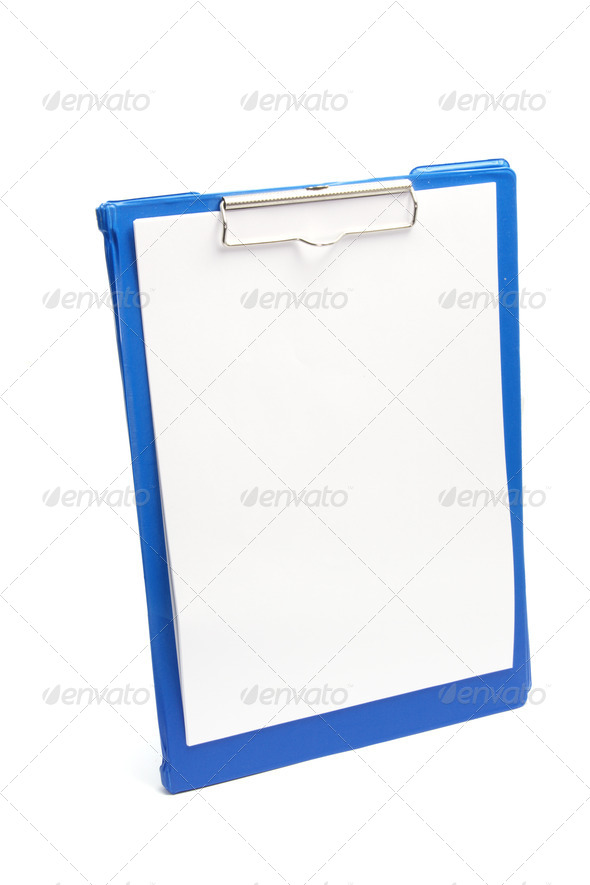 Clipboard with Blank Paper - Stock Photo - Images