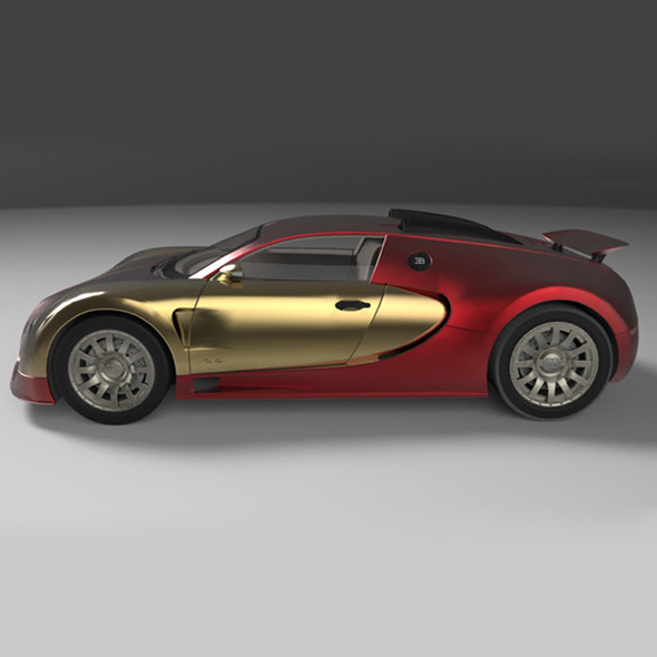 Concept Car 2006 BUGATTI 16.4 EB VEYRON - 3DOcean Item for Sale