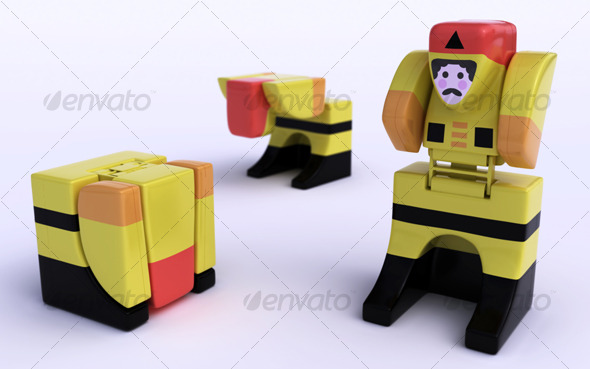 Little robot toy - 3DOcean Item for Sale