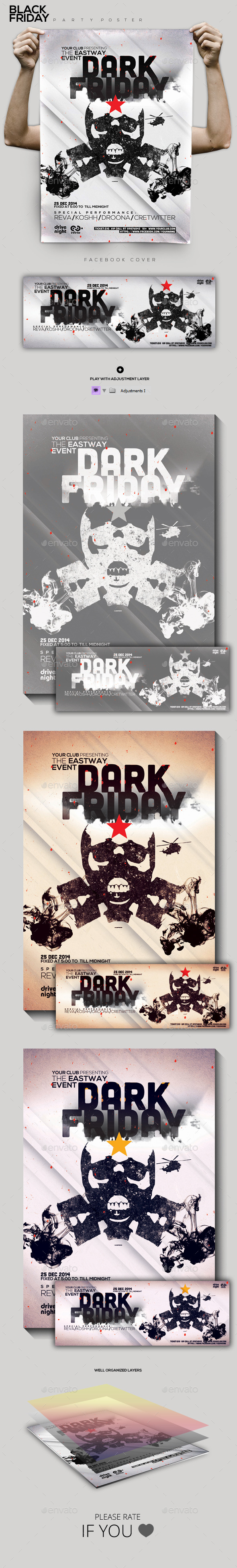 Black Friday Party Flyer/Poster - Clubs & Parties Events