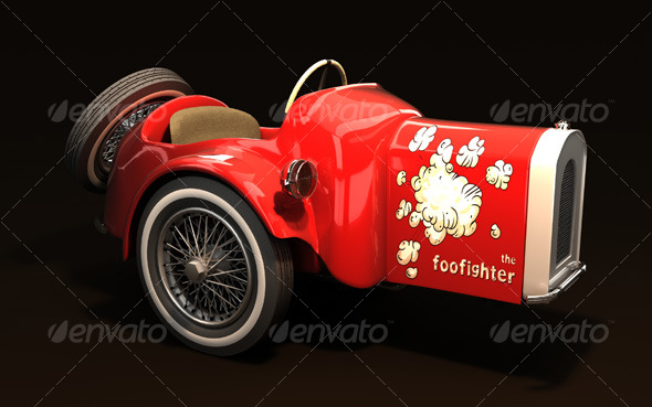 Foo Fighter car - 3DOcean Item for Sale