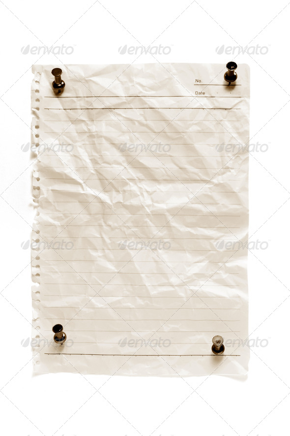 Blank Paper with Pushpins - Stock Photo - Images
