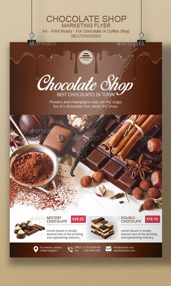 chocolate flyer template by blogankids