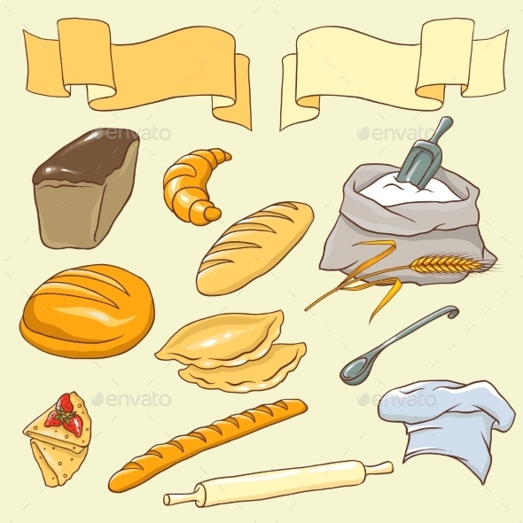 Bread Theme - Food Objects