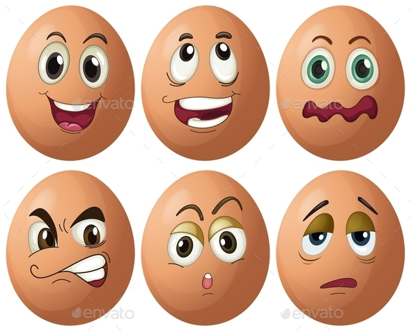 Egg Expressions - Food Objects