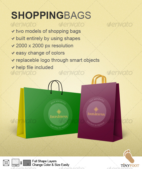 Shopping Bags - Miscellaneous Web Elements