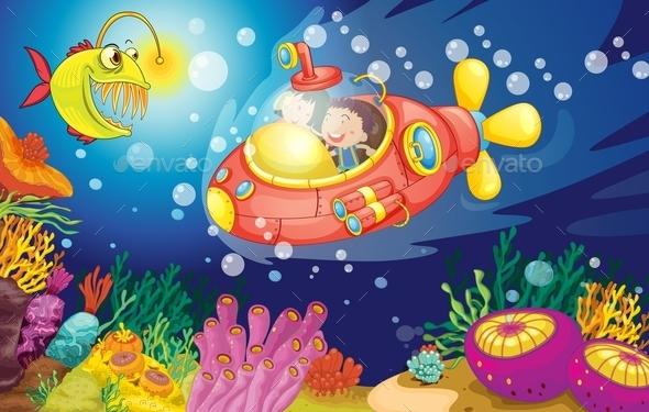 Kids in Water - People Characters