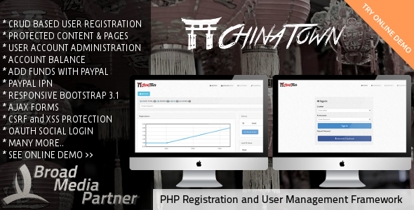 PHP User Registration and Management Framework - CodeCanyon Item for Sale