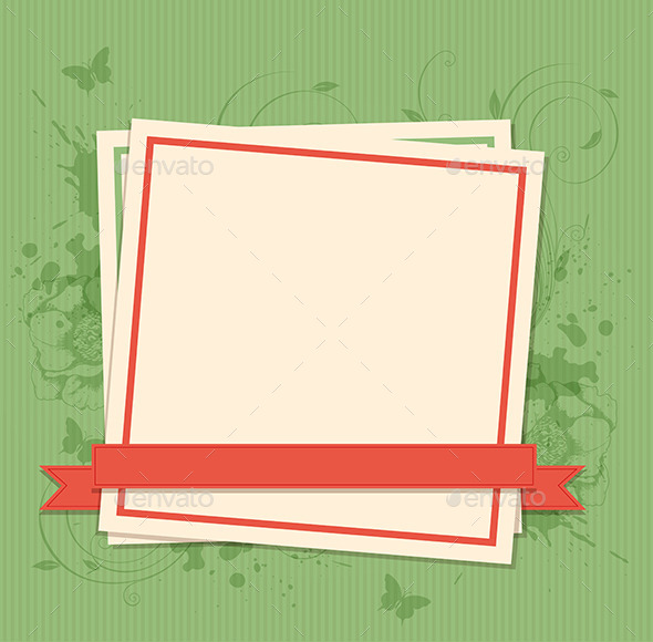 Green Background with Paper Frame - Backgrounds Decorative