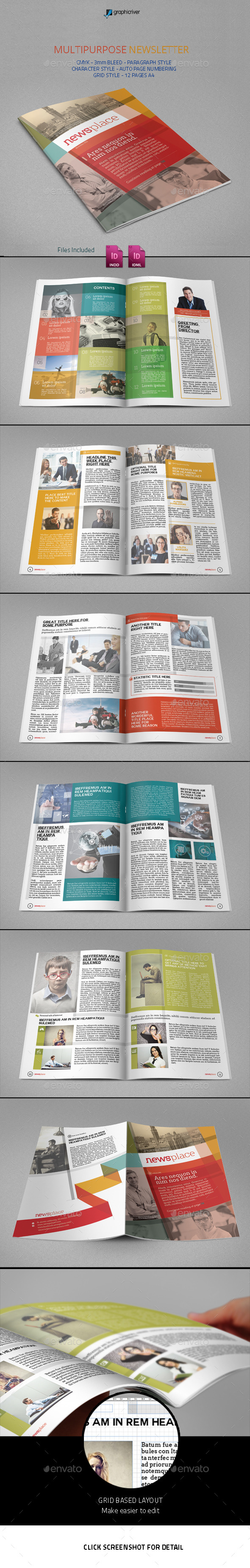 Multipurpose Newsletter - Newsletters Print Templates