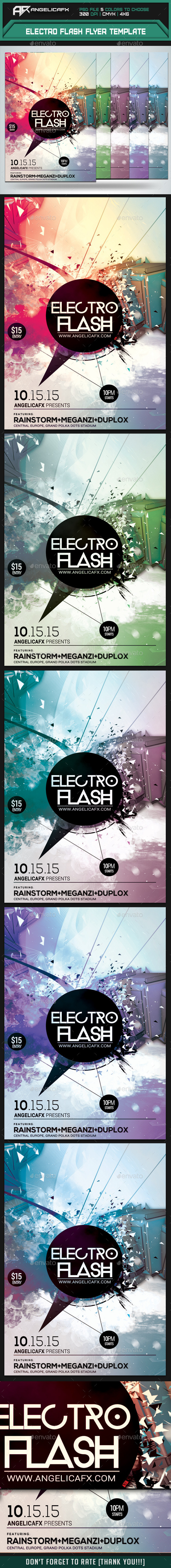Electro Flash Flyer Template - Flyers Print Templates