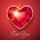 Valentine's Day Card with Red Gemstone - GraphicRiver Item for Sale