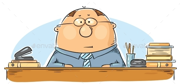 Cartoon Office Worker - People Characters