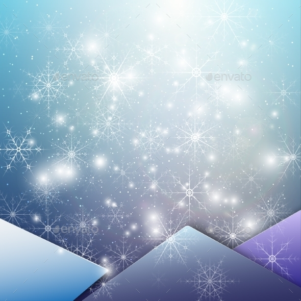 Winter background with Snowflakes - Backgrounds Decorative