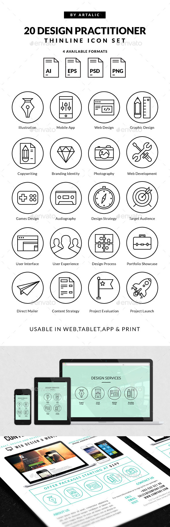 Design Practitioner Icons - Icons