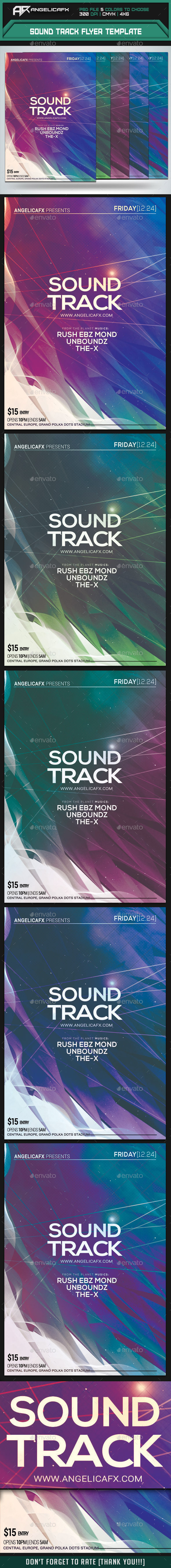 Sound Track Flyer Template - Clubs & Parties Events