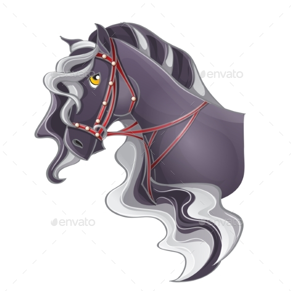 Picture of a Horse's Head - Objects Vectors