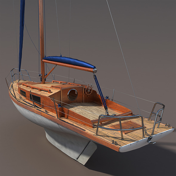 Sailboat - 3DOcean Item for Sale
