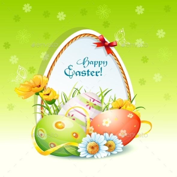 Happy Easter Card  - Religion Conceptual