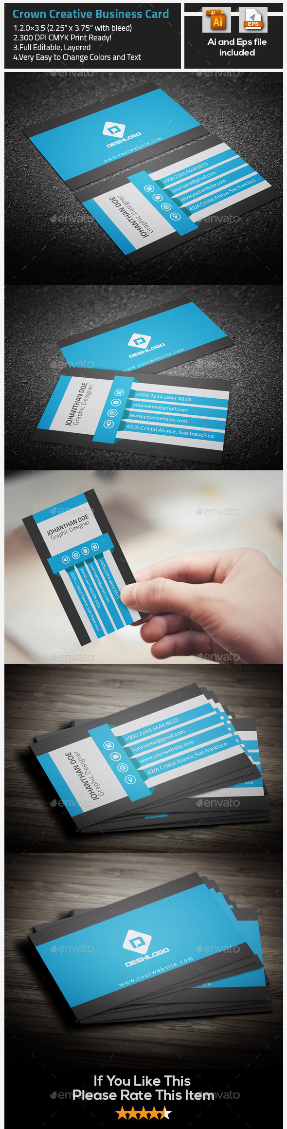 Crown Creative Business Card - Creative Business Cards