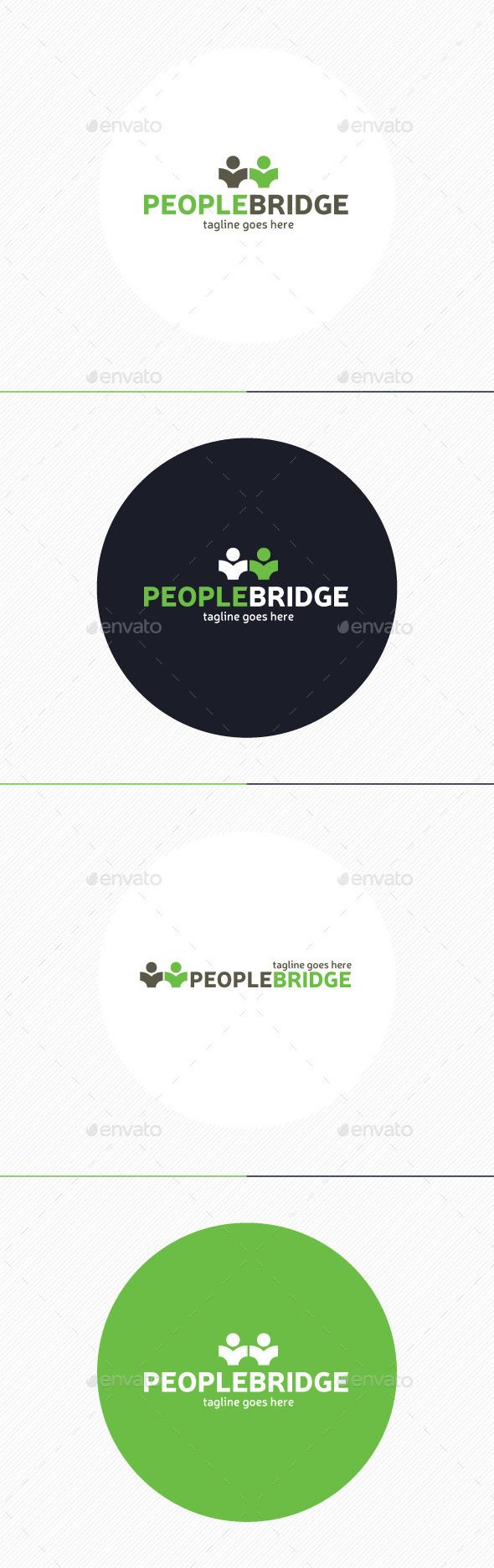 People Bridge Logo - Humans Logo Templates