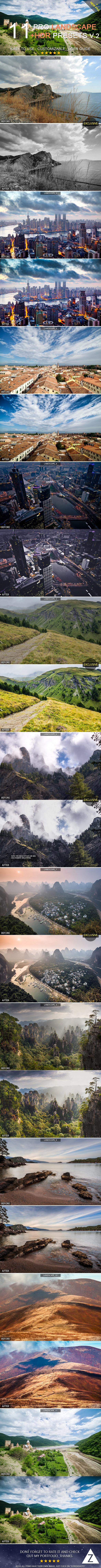 11 Pro Landscape+HDR Presets v.2 - Landscape Lightroom Presets
