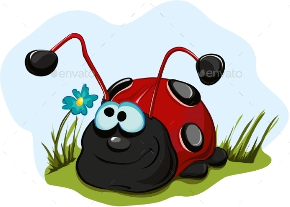 Cheerful Ladybug - Animals Characters