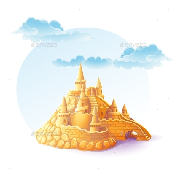Sand Castle Background - Objects Vectors