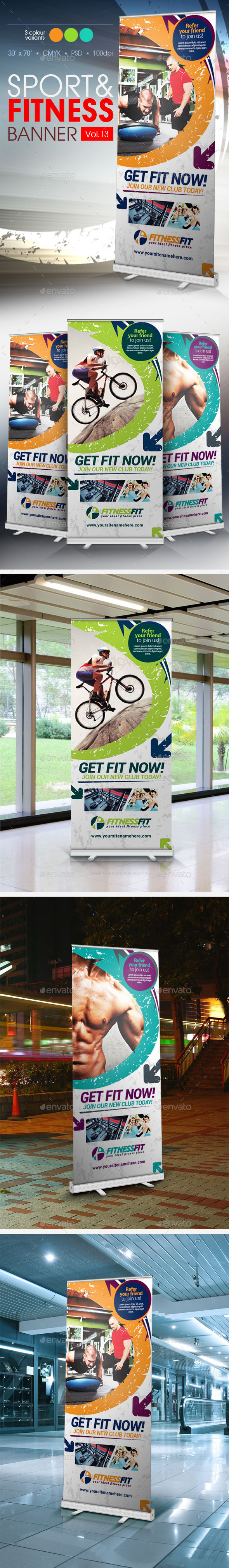Fitness Banner Vol.13 - Signage Print Templates