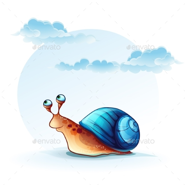 Cheerful Snail - Animals Characters