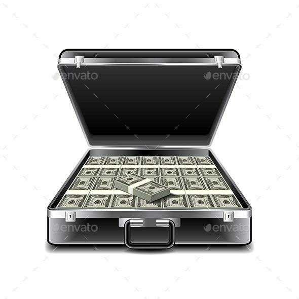 Suitcase Full of Money - Miscellaneous Vectors