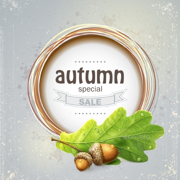 Autumn Sale with Oak  - Nature Conceptual
