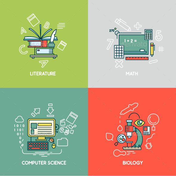 Math, Literature, Computer Science and Biology - Conceptual Vectors