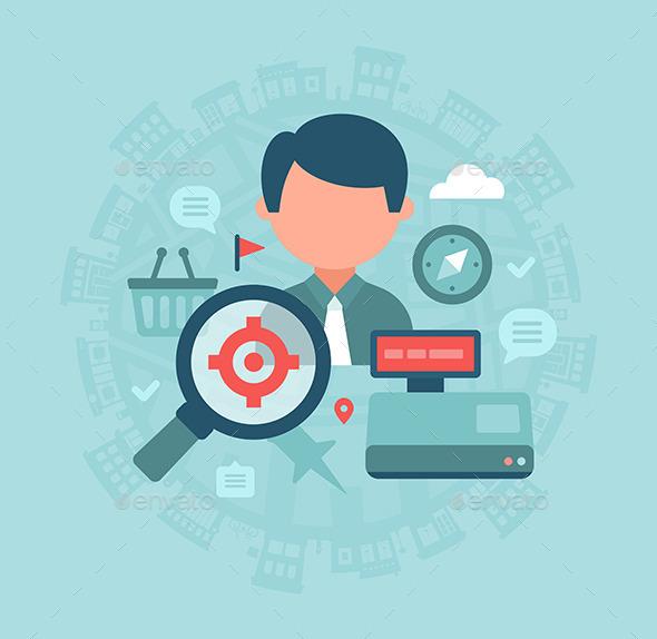 Local Store SEO Concept - Commercial / Shopping Conceptual