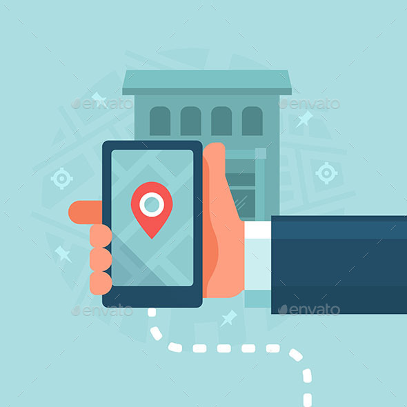 Smart Devices in Local Business Marketing - Technology Conceptual