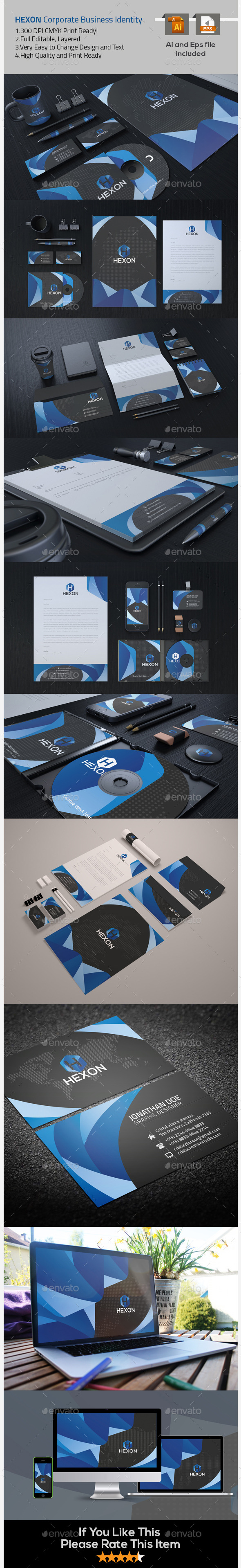 Corporate Identity Design - Stationery Print Templates