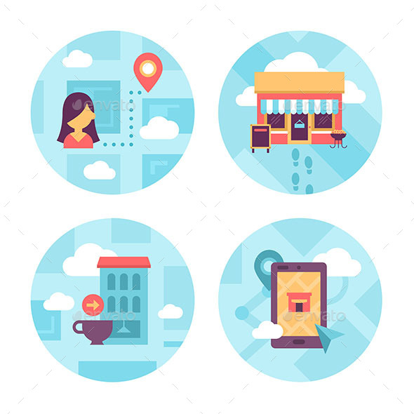 Local Area Navigation Icons - Commercial / Shopping Conceptual