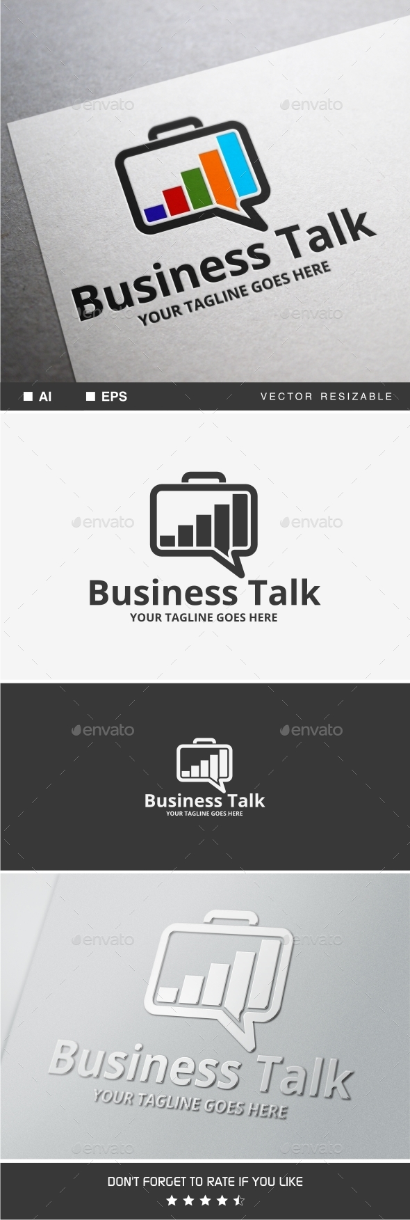 Business Talk Logo - Objects Logo Templates