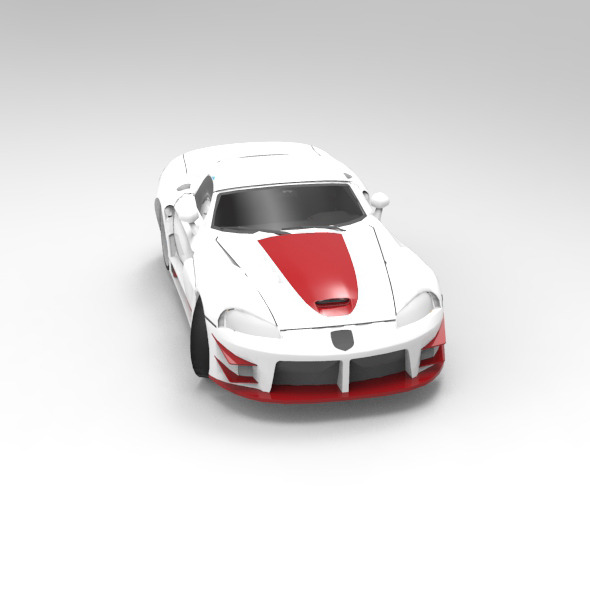 Concept Car Tuned Dodge Viper SRT10 - 3DOcean Item for Sale