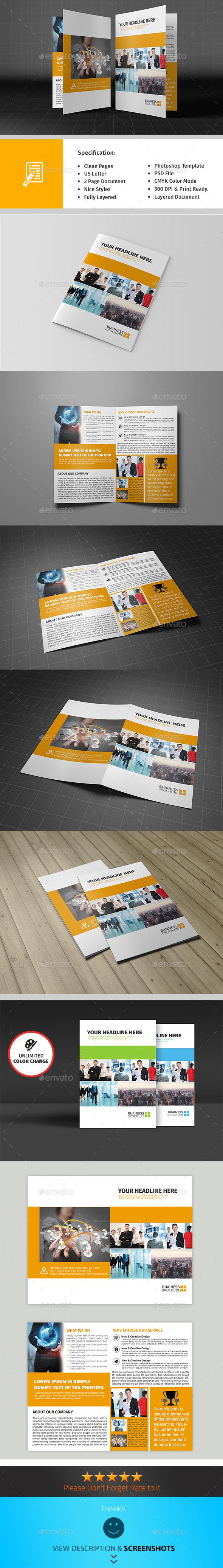 Bifold Corporate Brochure Template Vol04 - Informational Brochures
